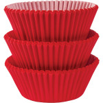 75 Red Cupcake Cases