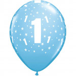Age 1 Pale Blue Balloons