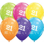 Age 21 Assorted Balloons