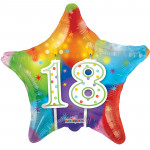 23 AP Mylar Star 18 Candles