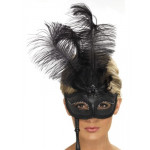 Eyemask Baroque With Feathers