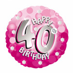 59 A Sparkle Pink 40th