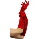 Gloves Long Red