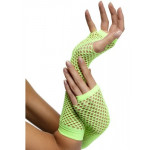 Gloves Long Green Fishnet