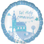 Mylar Communion Church Blue