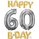 Happy 60 B-Day Phrase & Number