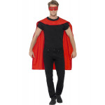 Red Cape With Eyemask