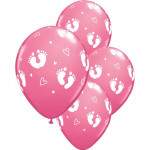 25 Baby Prints Balloons Pink