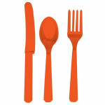 Plastic Cutlery Orange