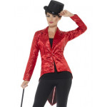 Adult Red Sequin Tailcoat