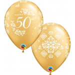 50th Ann. Damask Balloons