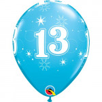 Age 13 Blue Balloons