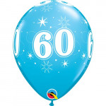 Age 60 Blue Balloons