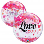 Bubble Love You Hearts