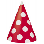 8 Red Dots Hats