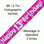 Banner 13th B/day Pink Holo