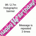 Banner 14th B/day Pink Holo