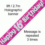 Banner 16th B/day Pink Holo