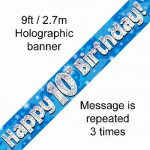Banner 10th B/day Blue Holo