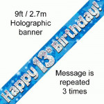 Banner 13th B/day Blue Holo