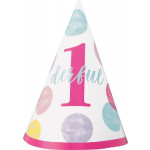 Pink Dots 1st Bday Party Hat