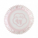 Cupcake Cases Baby Feet Pink