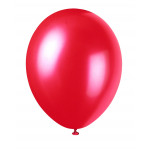 8 Pearlised Red Balloons