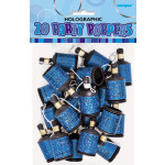 20 Holographic Blue Poppers
