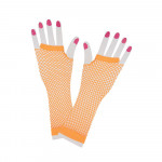 Long Net Gloves Orange