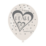 Pearl Anniversary Balloons