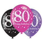 Balloons 80th Pink Celebration