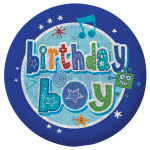 Birthday Boy Holographic Badge