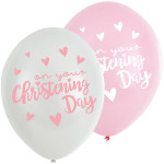 Balloons Christening Day Pink