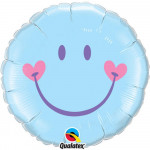 8 P Smile Face Pale Blue