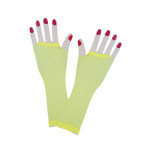 Long Net Gloves Yellow