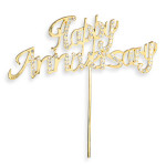 Diamanté Happy Anniversary Gld