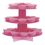 Cake Stand Pink White Spots
