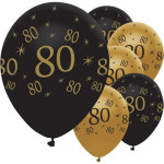 Balloons Black & Gold 80