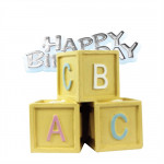 Baby Blocks Birthday Cake Dec