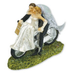 Bride & Groom On Bike Topper
