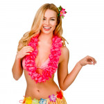 Hot Pink Flower Lei