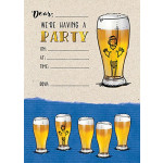 Invitation Pad Beer/Wine Glass