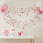 Happy B/day Clear Balloons