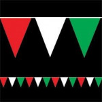 20m Red White Green Bunting