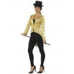 Adult Gold Sequin Tailcoat